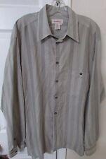 Ermenegildo Zegna Men's Long Sleeve Button Front Striped Shirt XL Italy EUC