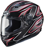 HJC Adult CS-R3 Spike Red/Black Full Face Motorcycle Helmet DOT