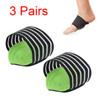 3 Pair Foot Support Cushion Shock Absorber Arch Feet Care Instep Pad Pain Relief