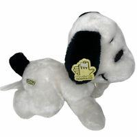 "Applause Snoopy Peanuts Dog Plush 9"" Crawling Vintage Stuffed Toy Animal"