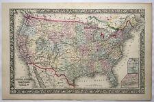 New ListingOriginal c1860 United States & Territories,Canada Map,Mitchell,Us,Antique,O ld