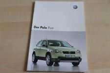 93356) VW Polo 9N Fun Prospekt 10/2003
