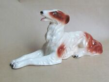 SITZENDORF POTTERY FIGURE OF A BORZOI DOG MODEL 38330 (Ref5250)