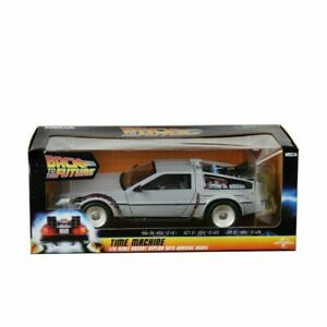 BACK TO THE FUTURE TIME MACHINE 1/16 SCALE DIECAST REPLICA DeLorean NEW IN BOX