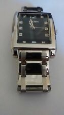Elgin® FG9060 Crystal Stainless Steel Black Watch - NEEDS BATTERY - Free Ship