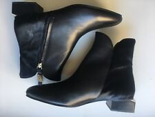 NIB Authentic See By Chloe Chelsea Black Calf Hair Leather Ankle Boots 40/9.5 US