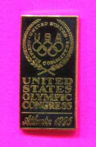 1995 UNITED STATES OLYMPIC CONGRESS PIN USA UNITED STATES OLYMPIC COMMITTEE PIN