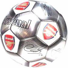 ARSENAL FC Size 5 2017 Ball Signature Football Silver Euro 16 Gift Xmas AFC