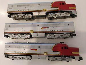 American Flyer S Gauge 470,471,473 Santa Fe PA/PB/PA Diesel Locomotive Set
