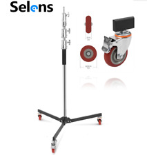 FOR ARRI Height Adjust Heavy Duty Studio Flash Light Stand Tripod & Wheels Kit