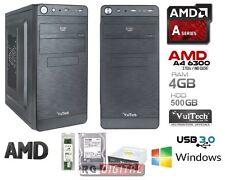 PC DESKTOP DUAL CORE AMD A4 6300 X2 3,7GHZ HD 500GB/RAM 4GB/COMPLETO VELOCE