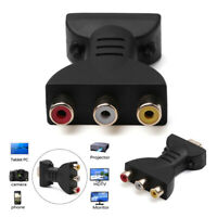 AV Digital Signal HDMI To 3 RCA Audio Adapter Component Video Converter Cable