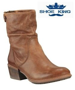 Timberland Women's Sutherlin Bay Mid Back Zip Boot Medium Brown Full Grain A1SDE