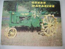 John Deere 1937 model G tractor Green Magazine January 1990
