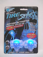 TIRE SPARX BLUE LED BICYCLE VALVE STEM CAPS SCHWINN STINGRAY RAT ROD CRUSIER