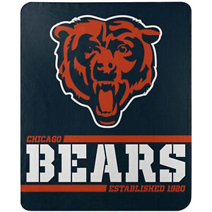 "New Football Chicago Bears Fleece blanket Southpaw Soft Throw 50"" x 60"""