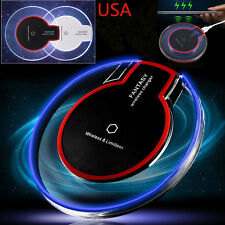 Qi Wireless Phone Charger LED Tablet Charger Samsung Galaxy S6 S7 S8 Edge/Note 5