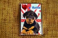 Rottweiler Gift Dog Fridge Magnet 77 x 51 mm Birthday Gift Mothers Day Gift