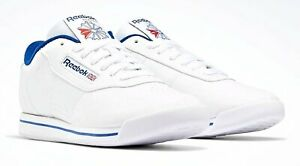 Reebok Classic Princess White, Blue Womens Running Tennis Shoes FV5294