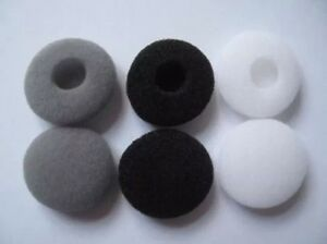 10 Pairs 13mm Foam Cushion Ear Pad Cover Earphone Headphone Earbud Replacement