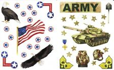 Creative Memories Army Stickers Scrapbooking Military Army Star and Stripes