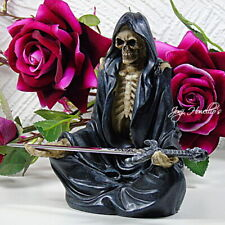 More details for grim reaper with sword decorative ornament letter opener skeleton figurine gift