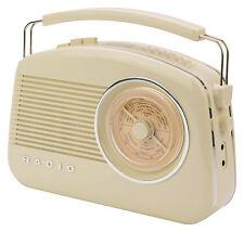 KONIG portatile retrò AM/FM DAB Radio TAVOLA-Beige-NUOVISSIMO