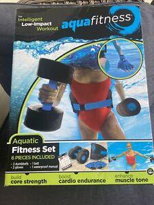 AQUA 6 Piece Fitness Set for Water Aerobics, Pool Exercise Equipment New