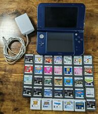 Nintendo 3DS XL Galaxy Edition + 34 DS/3DS Games, power cable, and case