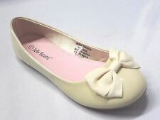 Girl Flats Patent w/Bow (Firo) Kid Flower Girl Pageant White Yellow Blue Magenta