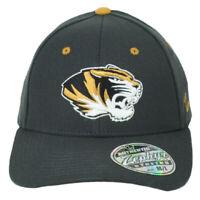 NCAA Zephyr Missouri Tigers Mizzou Gray Flex Fit Stretch Medium Large Hat Cap