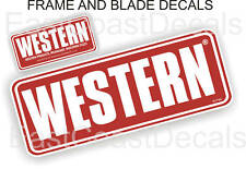 2 Western Snow Plow Decal Kit with 1 - Large Blade & 1 small Frame Stickers #WB1