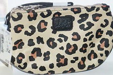 AEROPOSTALE Women's Animal-Print Zip Wristlet Purse Wallet Tan NWT Retail $16.50