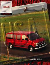 1998 GMC Truck Savana Van Original Sales Brochure Catalog Book Conversion Vans