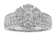2.30 Ct. Tw Ladies Round Diamond Cluster Anniversary Ring In Platinum