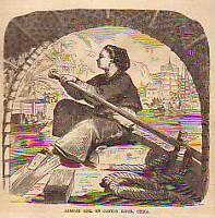 1858 Ballou's China-Chinese Sampan Girl on the Canton