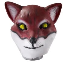 Red Fox Latex Full Mask Adult Animal Halloween Costume Accessory Prop fr69502