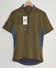 PAUL SMITH 531 khaki green cycling jersey t-shirt tshirt top striped SMALL