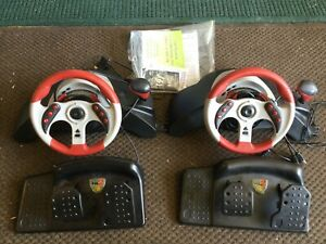 MAD CATZ MC2 UNIVERSAL RACING WHEEL & PEDALS 6320 RED FOR XBOX PS2 GAMECUBE WII