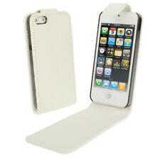 COVER CUSTODIA FLIP CASE PER APPLE IPHONE 5 5G 5S 5C SE PELLE FODERO BIANCO NEW
