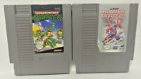 TMNT Ninja Turtles + Blades of Steel -  Nintendo NES Authentic Game Tested Works