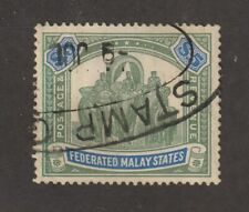 Malaya stamps, Federated Malay States #75, used, wmk. 4, 1925, rare $5, SCV $250