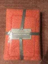 Zero Twist 100% Combed Cotton Towels Set 3 Towels Pink Grapefruit Color Towel