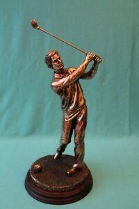 Real Bronze Sculpture Golf golfer Statue