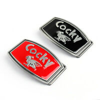 Men Vintage Silver Cocky Red / Black Metal Cool Funny Belt Buckle New