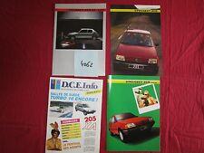 N°4062 /  PEUGEOT : 4 catalogues 205 année modéle 85