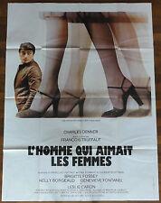 Ancienne Affiche Cinéma L'HOMME QUI AIMAIT LES FEMMES. Cinema Movie Poster.