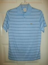 MENS LACOSTE SZ 3 SMALL POLO GATOR AUTHENTIC BLUE STRIPE