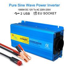 onda sinusoidal pura Inversor Convertidor 1000w/2000w inverter 12v a 220v 230v