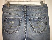 SILVER Jeans Co SUKI Jeans Sz 27x30 Denim Boot Cut Jeans